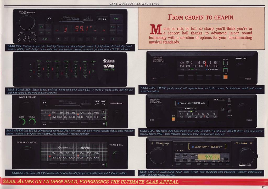saab clarion audio system my84 94 rh saabclarion se Saab 9 3 Repair Manual Saab Auto Repair Manual