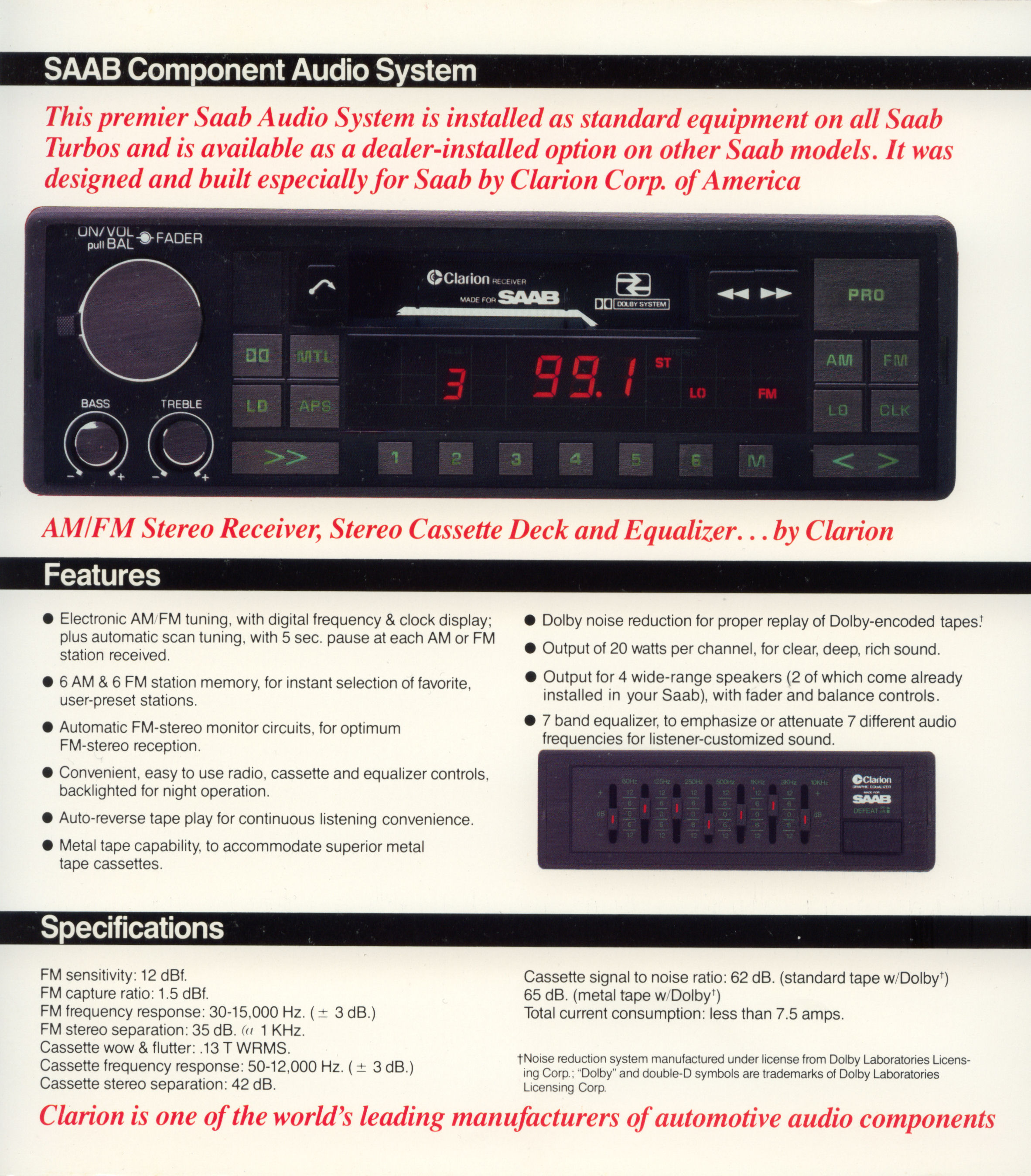 Clarion stereo repair user manuals array saab clarion audio system my84 94 rh saabclarion se fandeluxe Images