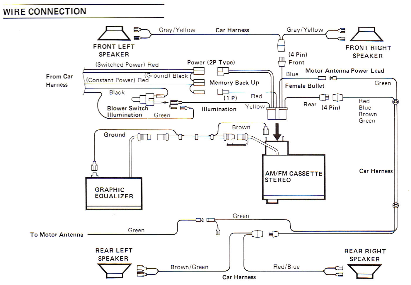 Clarion Eq Wiring Diagram - Wiring Diagram Database • on clarion cd player wiring-diagram, ford radio harness diagram, clarion radio wiring diagram, clarion radio wired remote diagrams, dual stereo wiring harness diagram, starcraft wiring harness diagram, mercedes radio harness diagram, gm radio wiring harness diagram, clarion vrx485vd wiring-diagram,