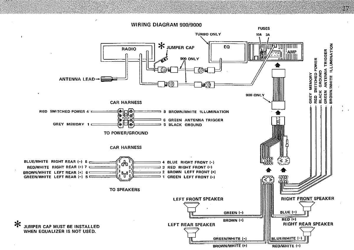 Saab Electrical Wiring Diagrams Automotive 2 3 Linear Engine Diagram Clarion Audio System My84 94 Rh Saabclarion Se 900 Ignition